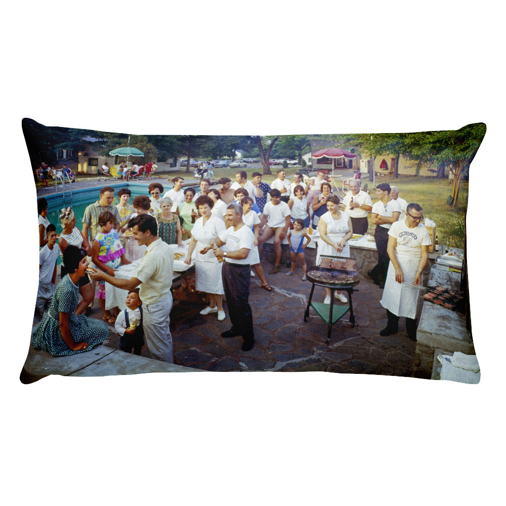 Winchelsea Resort 1960's Palenville, NY - Rectangular Pillow