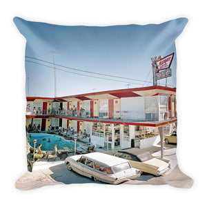 Marquee Motel, North Wildwood, NJ 1960's - Square Pillow.