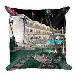 Hialeah Motel, Wildwood, NJ 1960's - Square Pillow