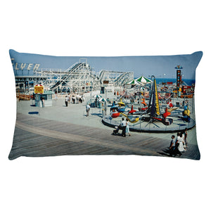 Hunt's Pier Early 1960's Wildwood, NJ - Rectangular Pillow