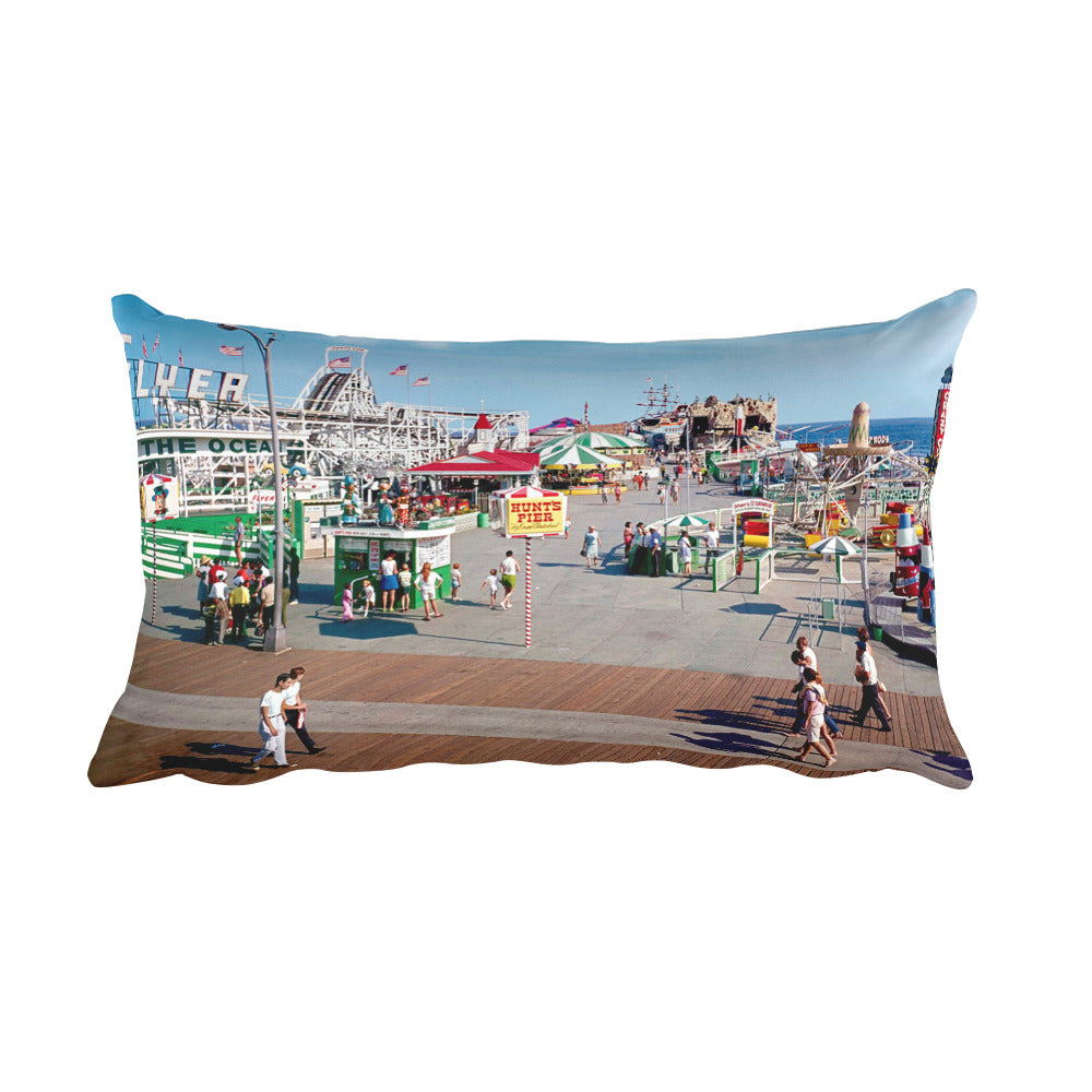 Hunt's Pier 1960's, Wildwood, NJ - Rectangular Pillow
