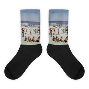 Wildwood Beach in the 1960's - Black Foot Socks
