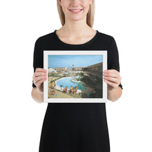Caribbean Motel 1960's Pool Photograph - Framed paper poster