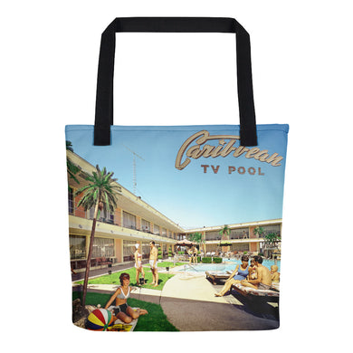 Caribbean Motel Pool Area - 1960's - Tote Bag