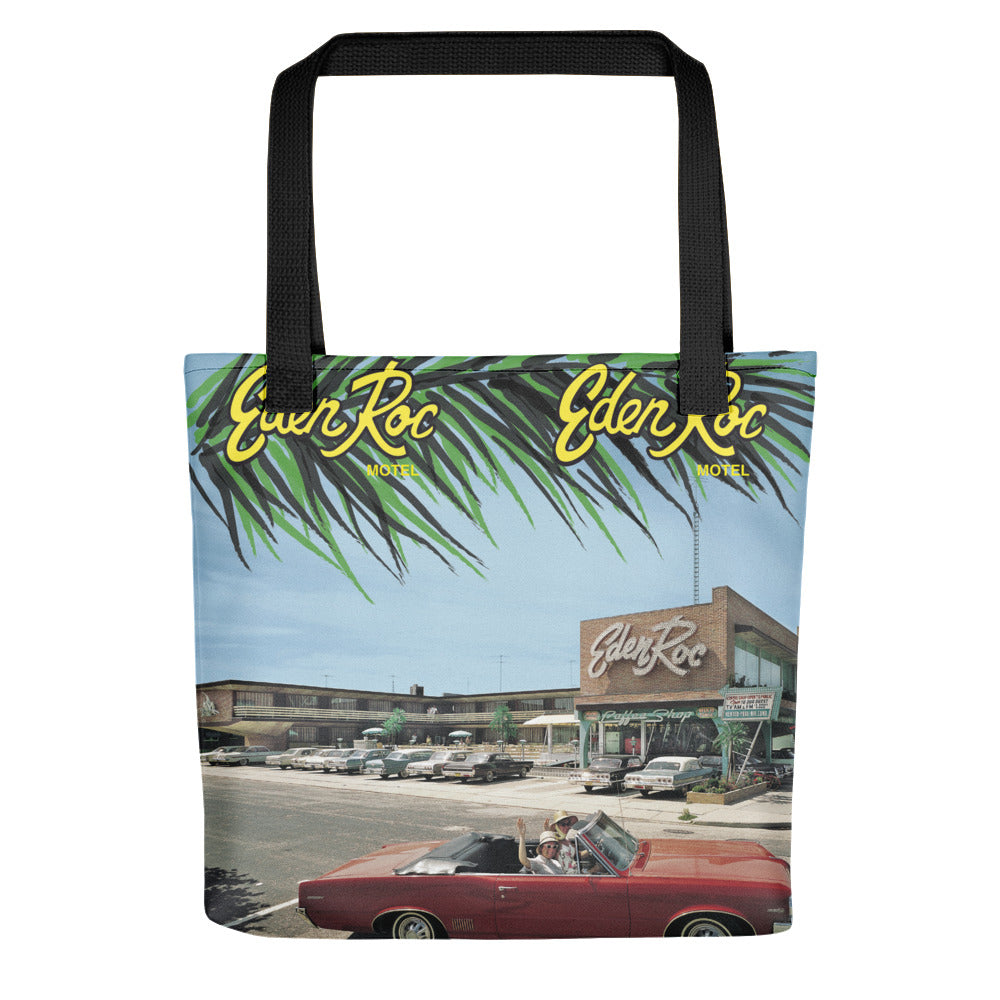Eden Roc Motel, Wildwood, NJ 1960's Brochure Cover on a Tote Bag