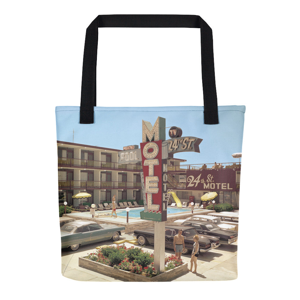 24th Street Motel 1960's North Wildwood, NJ -  Tote Bag