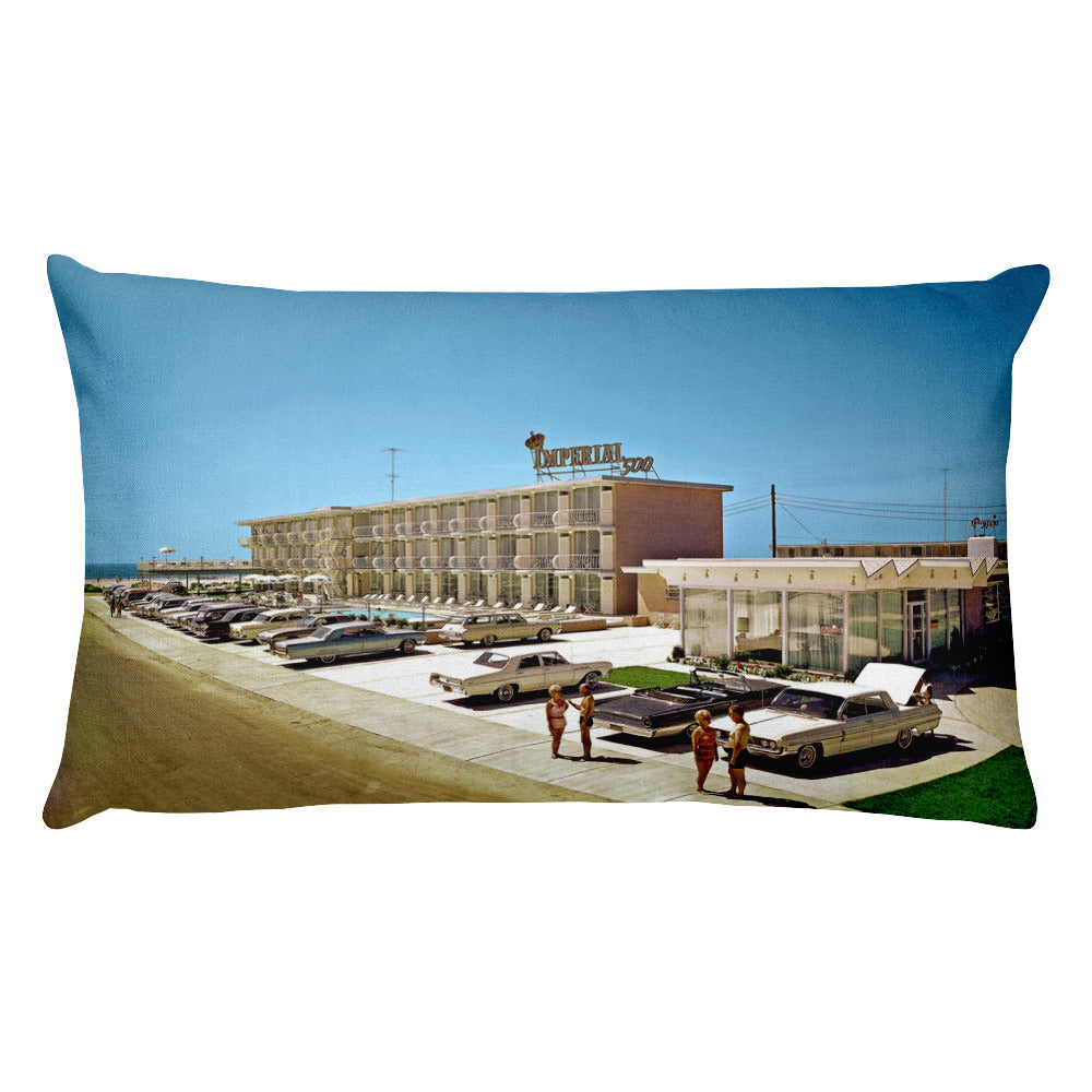 Imperial 500 Motel 1960's Wildwood, NJ - Rectangular Pillow