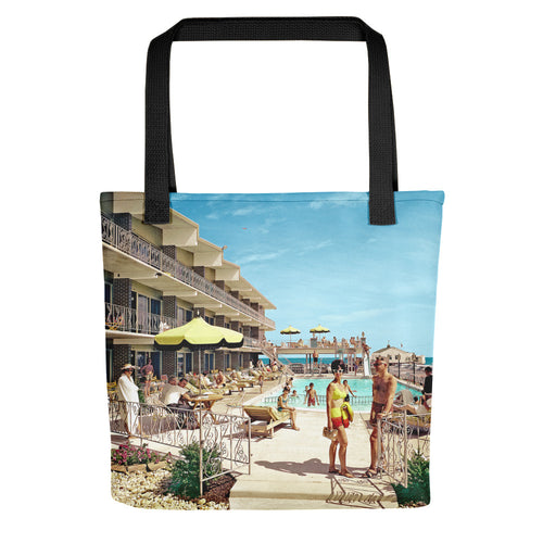 Attache Motel, Wildwood, NJ 1960's Pool Photograph - Tote Bag