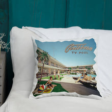 Caribbean Motel Pool in the 1960's - Premium Pillow