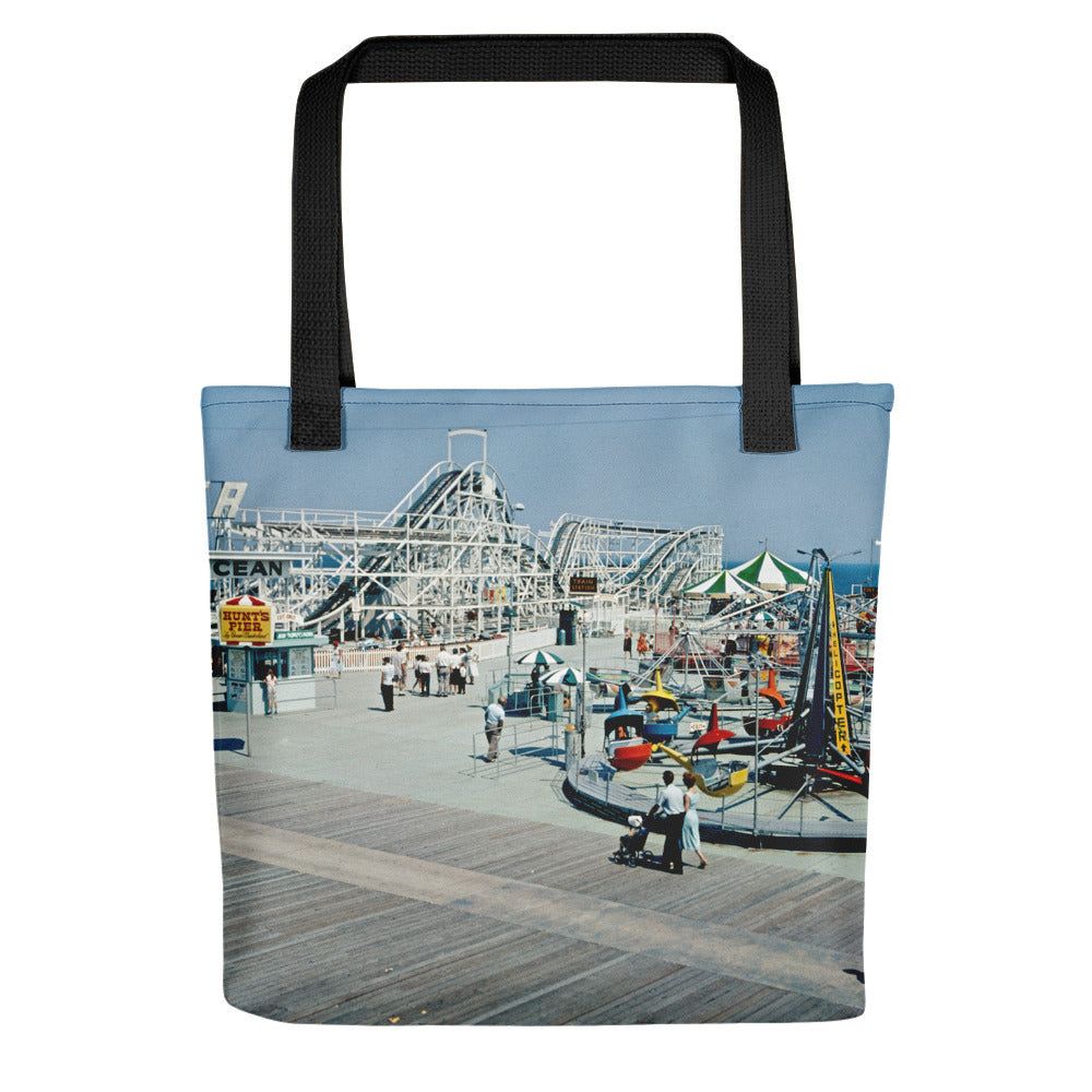 Hunt's Pier in the Wildwood NJ Boardwalk in the 1960's - Tote bag