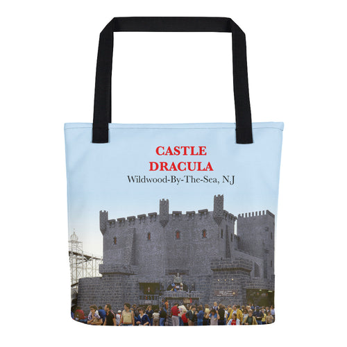 Castle Dracula Amusement In Wildwood, NJ 1970's - Tote Bag.