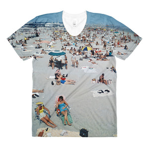 Wildwood Beach 1960's - Women's Crew Neck T-Shirt