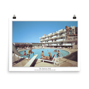 Pan American Motel Pool, 1967 Wildwood, NJ - Poster