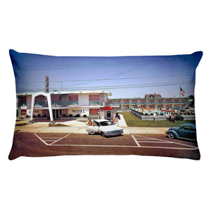 Lurae Motel, North Wildwood, NJ 1960's - Rectangular Pillow