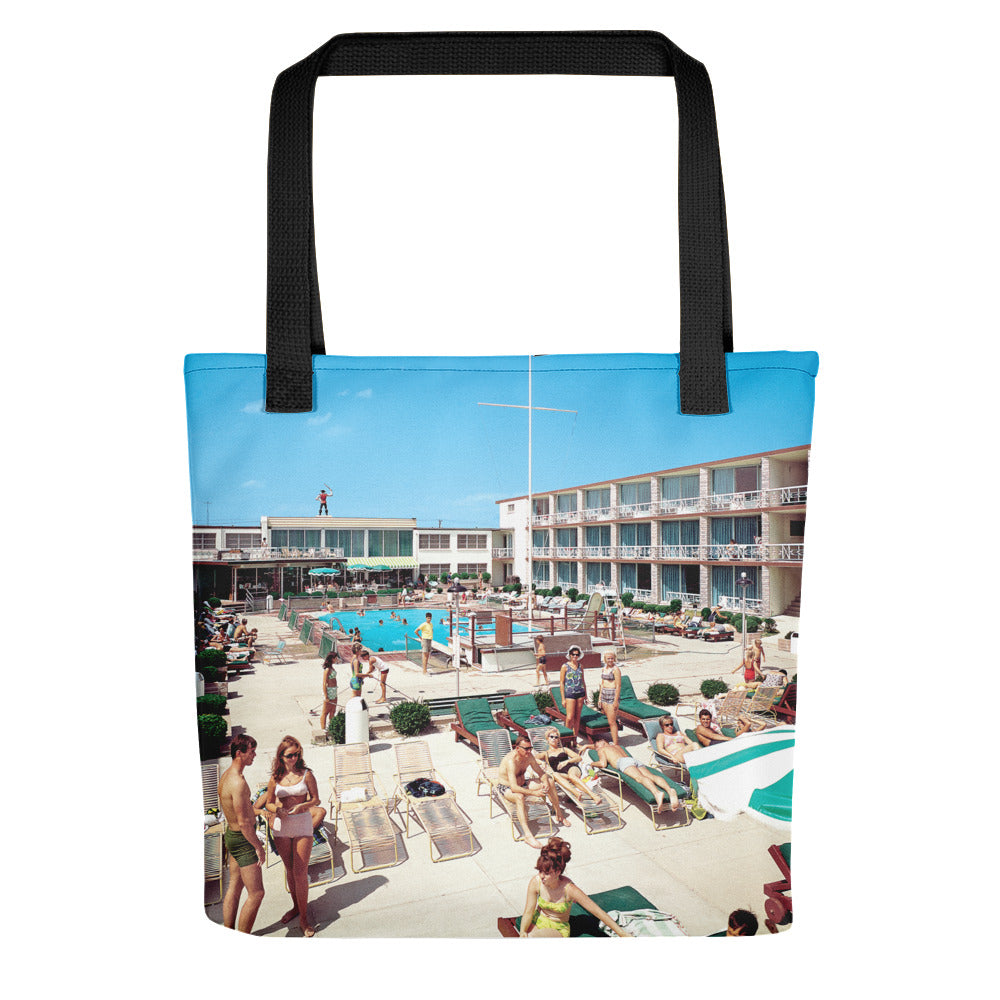 Jolly Roger Motel, Wildwood, NJ -  1960's Pool, - Tote Bag