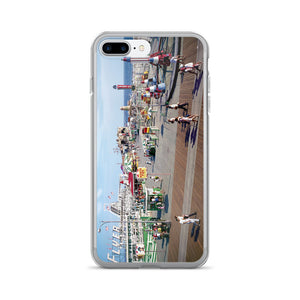 Hunt's Pier in the 1960's, Wildwood NJ Boardwalk - iPhone 7/7 Plus Case