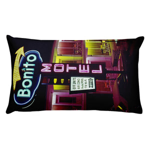 Bonito Motel 1960's Neon Sign, Wildwood, NJ - Rectangular Pillow