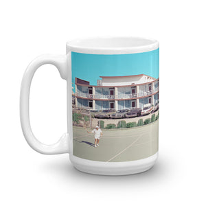 Jolly Roger Motel, Wildwood, NJ - 1960's Tennis Court - Mug