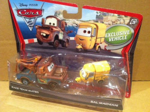 DISNEY CARS DIECAST - Race Team Mater and Sal Machiani