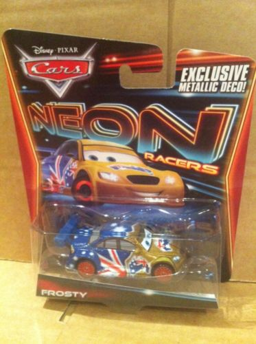 DISNEY CARS DIECAST - Frosty - Neon Racers with Exclusive Metallic Deco!