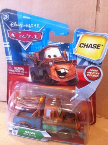 DISNEY CARS DIECAST - Mater With Oil Can and Changing Eyes