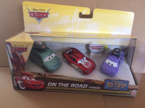 DISNEY CARS DIECAST - Road Trip - On The Road 3-Pack