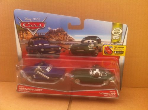 DISNEY CARS DIECAST - Brent Mustangburger and David Hobbscapp with Headsets
