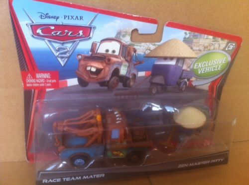 DISNEY CARS DIECAST - Race Team Mater and Zen Master Pitty
