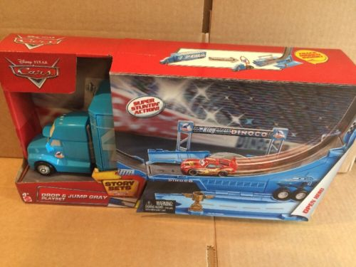 DISNEY CARS  Story Sets - Drop and Jump Gray Playset