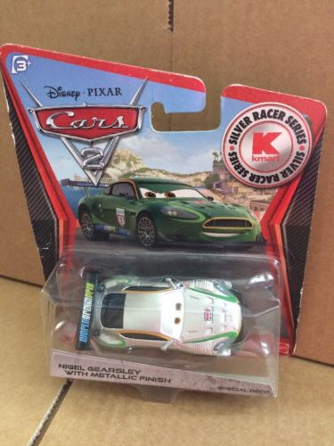 DISNEY CARS DIECAST - Nigel Gearsley With Metallic Finish - Silver Racer Series