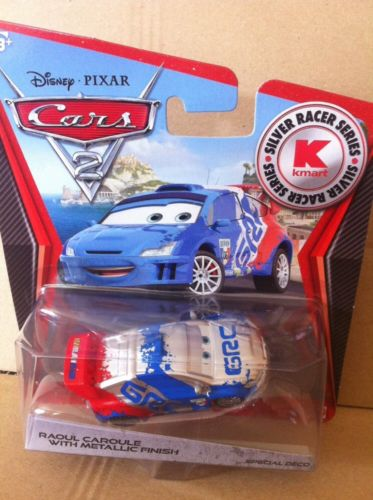 DISNEY CARS DIECAST - Raoul Caroule With Metallic Finish - Silver Racer Series