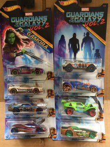 HOT WHEELS DIECAST - GUARDIANS OF THE GALAXY VOL. 2 Set Of 8