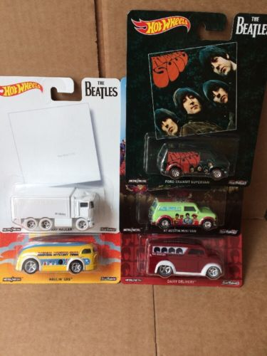 HOT WHEELS DIECAST Pop Culture Series - The Beatles Set Of 5