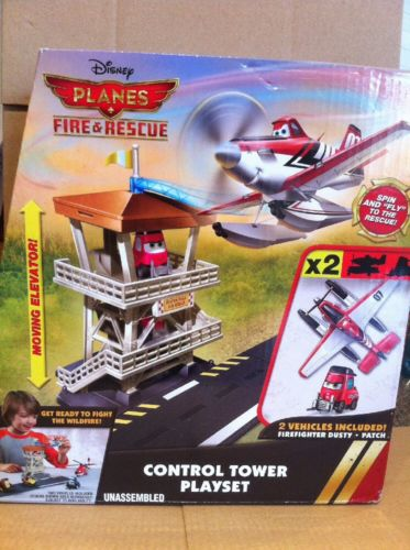 DISNEY PLANES - Control Tower Playset With Firefighter Dusty and Patch