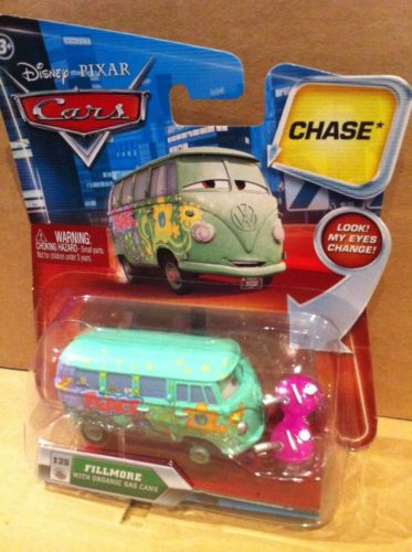DISNEY CARS DIECAST - Fillmore With Organic Gas Cans and Changing Eyes