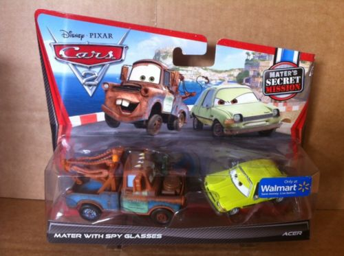 DISNEY CARS DIECAST- Mater With Spy Glasses and Acer