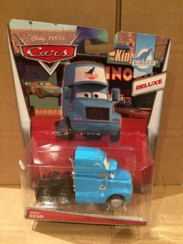 DISNEY CARS DELUXE DIECAST - Gray Semi - Cab