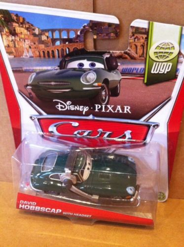 DISNEY PIXAR CARS 2 WORLD GRAND PRIX SERIES DAVID HOBBSCAPP W// HEADSET