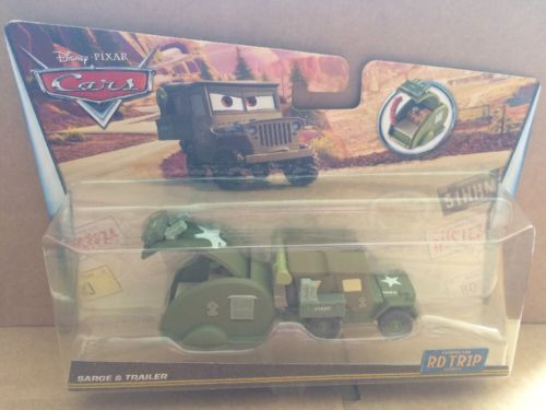 DISNEY CARS DIECAST - Road Trip Sarge and Trailer