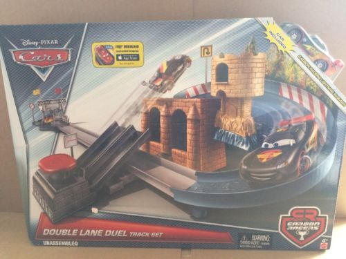 DISNEY CARS Story Sets - Double Lane Duel Track Set - Carbon Racer
