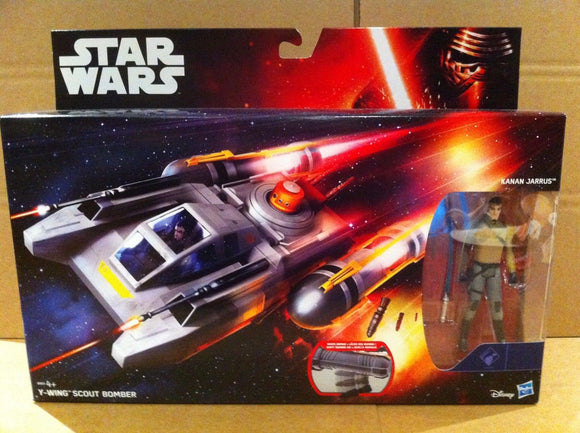 Star Wars - Y Wing Scout Bomber with Kanan Jarrus Figure
