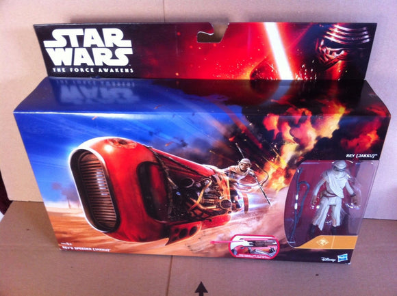 Star Wars The Force Awakens Rey's Jakku Speeder Bike and Figure