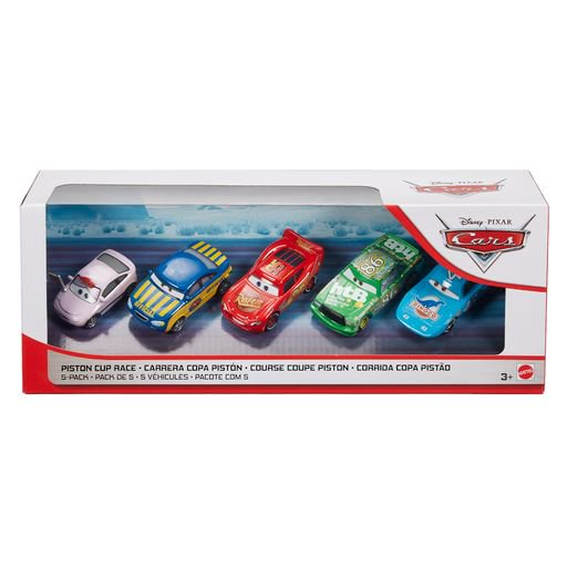 DISNEY CARS DIECAST - Piston Cup Cup Race 5-Pack with King Chick