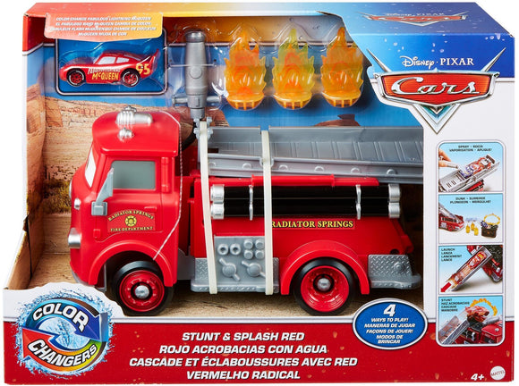 DISNEY CARS COLOUR CHANGER - Stunt and Splash Red