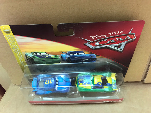 DISNEY CARS 3 DIECAST - Eric Braker and Spikey Fillups