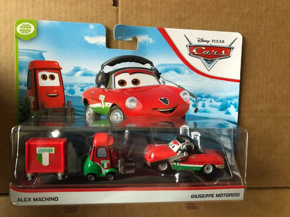 DISNEY CARS DIECAST - Guiseppe Motorosi and Alex Machino