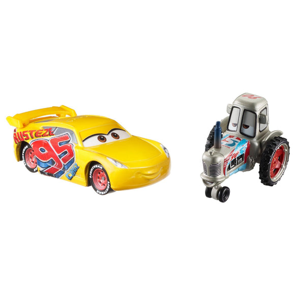 DISNEY CARS DIECAST - Bumper Save Tractor and Rusteze Cruz Ramirez