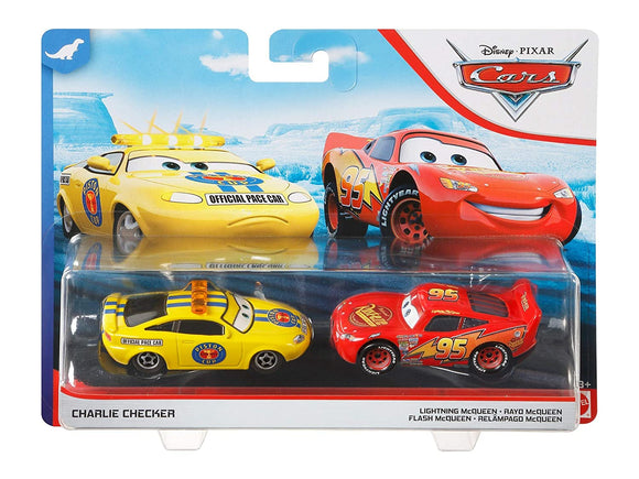 DISNEY CARS DIECAST - Charlie Checker and Lightning McQueen