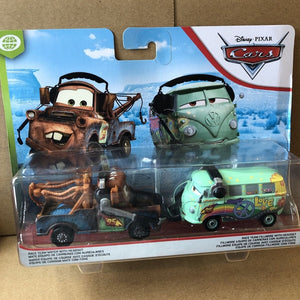 DISNEY CARS DIECAST - Race Team Mater and Fillmore with headsets