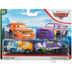 DISNEY CARS 3 DIECAST - Speedy Comet and Parker Brakeston